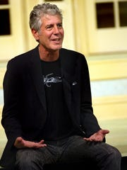 Author and foodie bad boy Anthony Bourdain talks about life as a culinary celebrity and author to students at FSU in the Conradi Auditorium in the Williams Building in 2011.