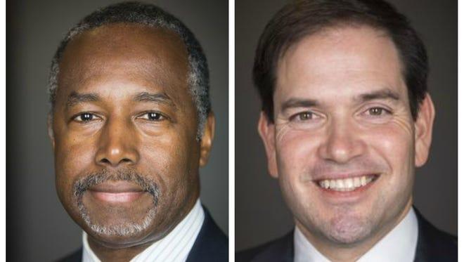 Ben Carson (left) and Marco Rubio.