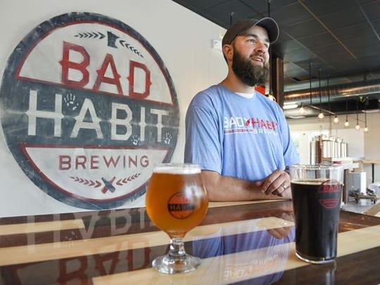 Aaron Rieland, founder of Bad Habit Brewing Co. in St. Joseph.