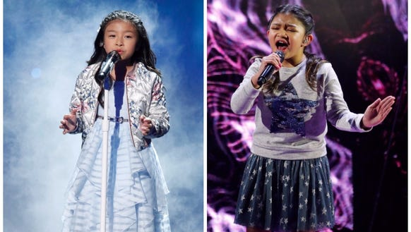 Celine Tam, left, and Angelica Hale sang their hearts
