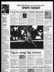Battle Creek Sports History - Week of April 23, 1997
