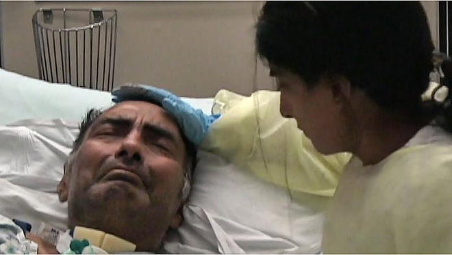 """Malini Goel with her father, Dr. Arun Goel. He became paralyzed in 2006 after a fall in his home. Malina produced a documentary, """"Should Tomorrow Be,"""" about his choice."""