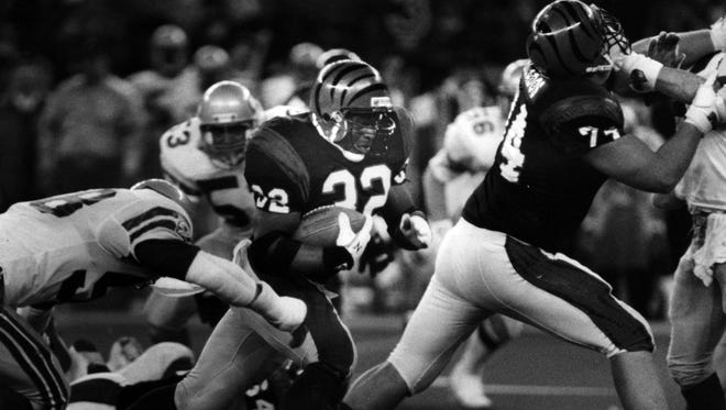 Bengals running back Stanley Wilson never played again after he was found in his Miami hotel room in a cocaine-induced stupor the night before Super Bowl XXIII.