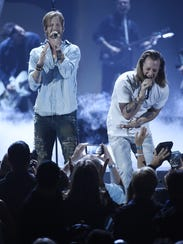 Brian Kelley, left, and Tyler Hubbard of music group