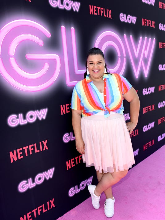 "Netflix Original Series ""GLOW"" 80's Takeover Of Muscle Beach"
