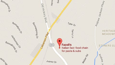 Police say two men robbed this Fazoli's restaurant in Hermitage on Wednesday, Nov. 25, 2015.