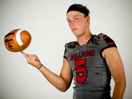 Former South Fork star Stone Labanowitz, shown here before his senior year, has been named the starting quarterback at Southern Illinois University.