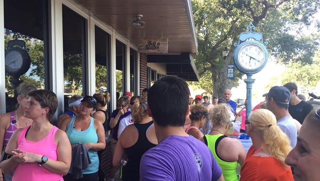 Last year more than 100 people turned out for the Summer Breweries Tour Fun Run/Walks like this one at Hell 'n Blazes Brewing Company in Melbourne.