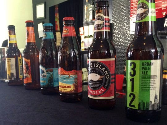 The lineup of microbrew beers highlighted at the women's only craft beer tasting held at Ture Sept. 9.