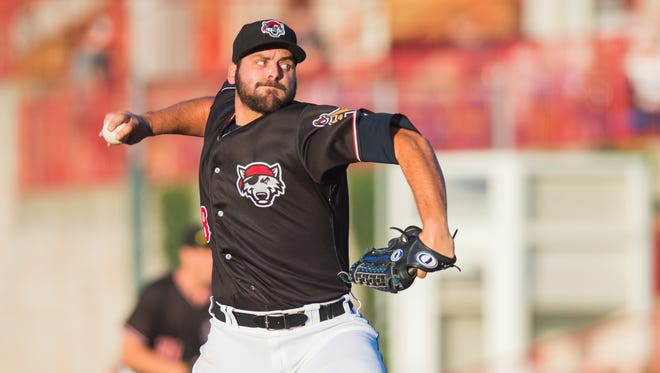 "Michael Fulmer pitched for the Erie SeaWolves, who are hosting an  ""#AlternativeFacts Night"" on Aug. 25."