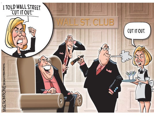Hillary and Wall St.