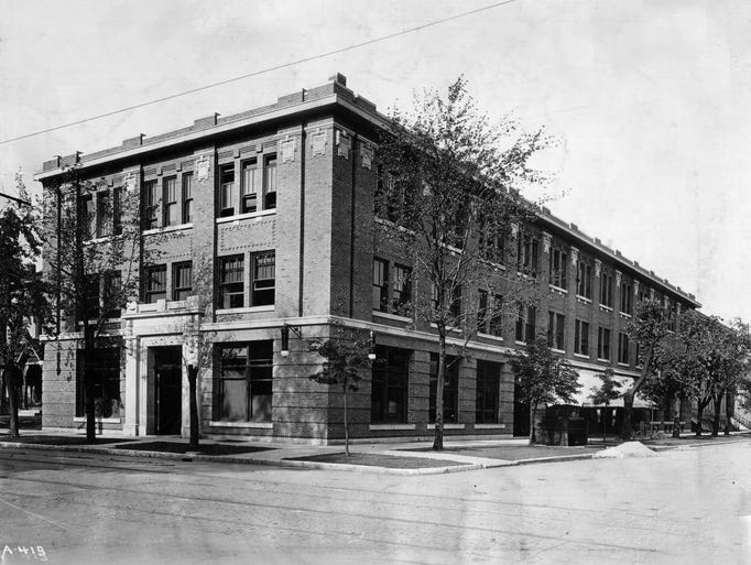 Star building, 301 North Pennsylvania Street, was taken shortly after it was built in 1907.