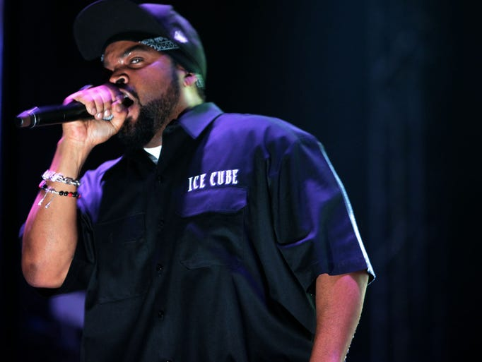 Ice Cube performs on the Which Stage at the Bonnaroo Music  & Arts Festival on Friday, June 13, in Manchester, Tenn.