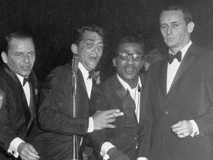 We're taking a walk down memory lane, looking for the best places to find remnants of the group that made Vegas the Entertainment Capital of the World: The Rat Pack. Members (from left), Frank Sinatra, Dean Martin, Sammy Davis Jr. and Joey Bishop, perform at the Sands Hotel in Las Vegas on January 20, 1960.