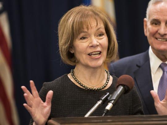 Minnesota Lt. Governor Tina Smith.