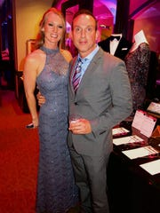 Tanya Blankenship and Jon Barnes in the Las Vegas Night silent auction section.