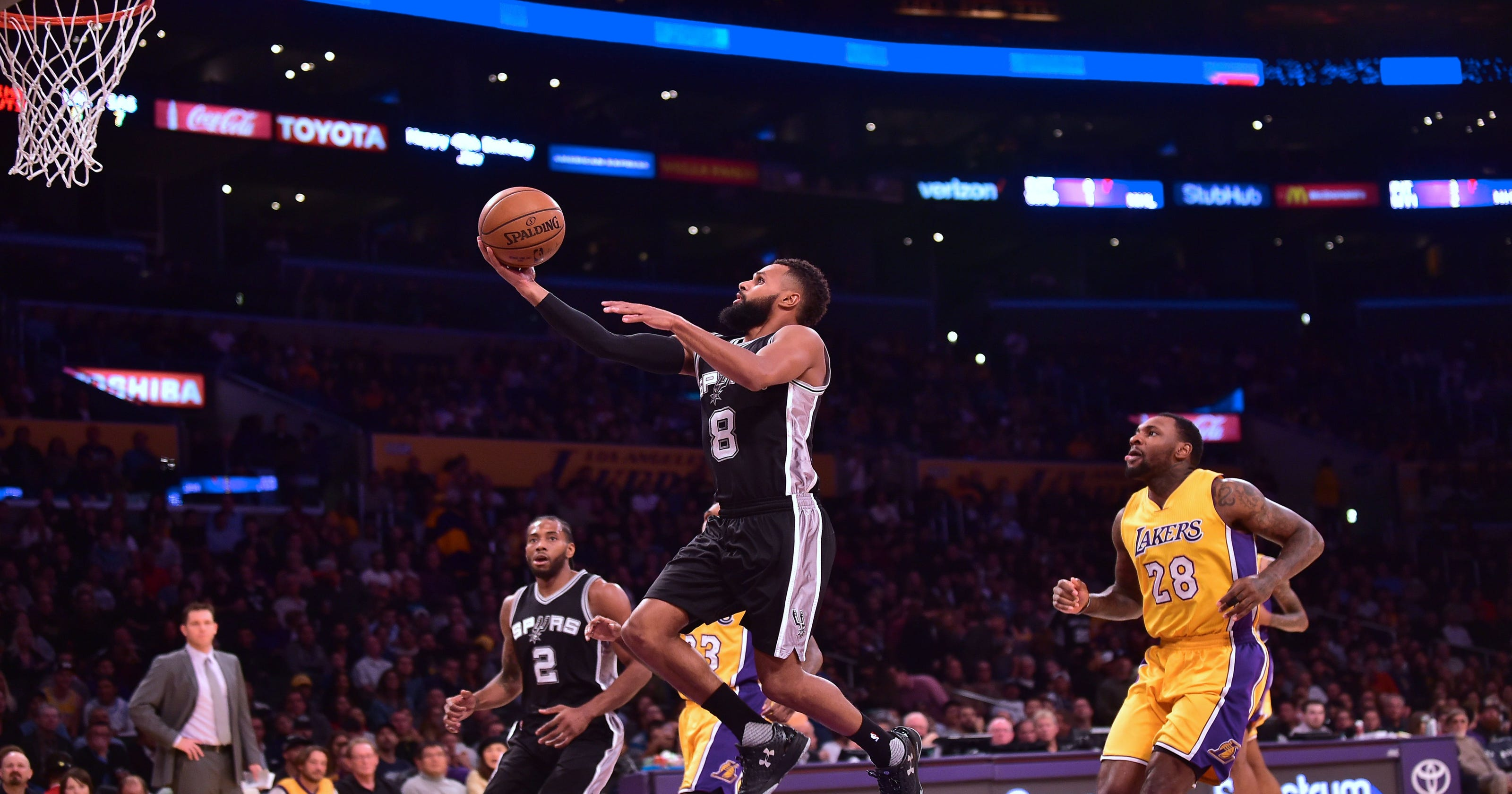 cd93c3064d4 LaMarcus Aldridge scores 23 as Spurs hold off upstart Lakers