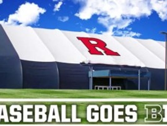 A drawing of a $2.6 million indoor baseball facility was seen during a ScarletKnights.com video that outlined fundraising initiatives heading into the Big Ten.