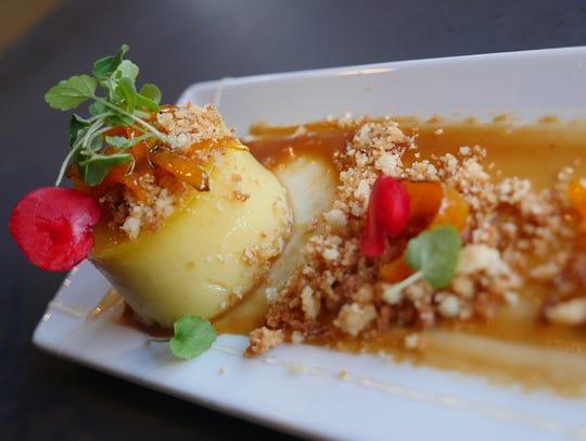 The egg custard tart ($5.95) dessert from the Peterboro
