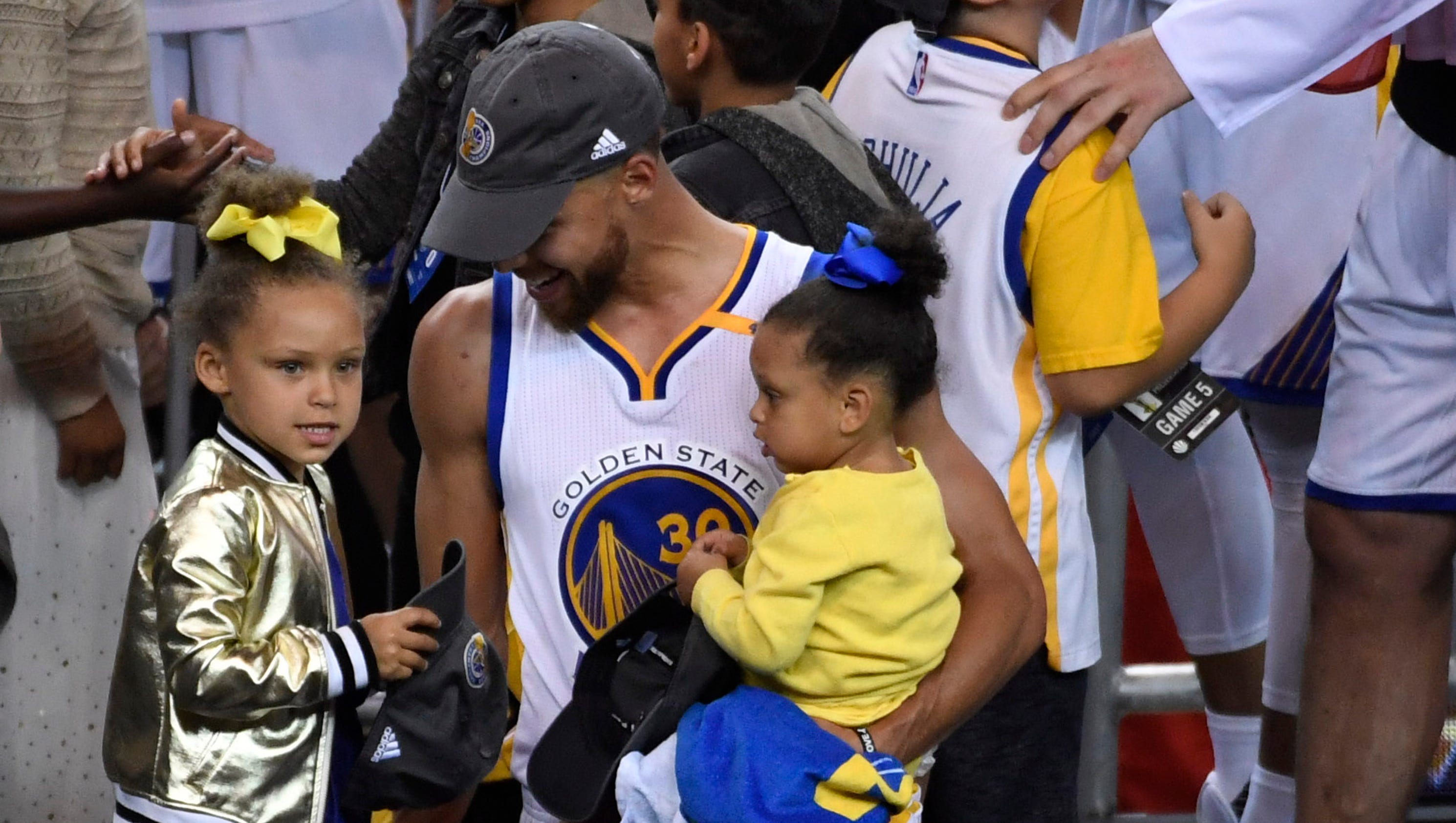 e2a8288b175b hollywoodlife.com Riley Curry returned to steal the show after Warriors   win usatoday.com Durant s ...