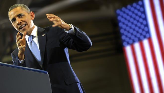 President Obama delivers remarks Thursday in Nashville.