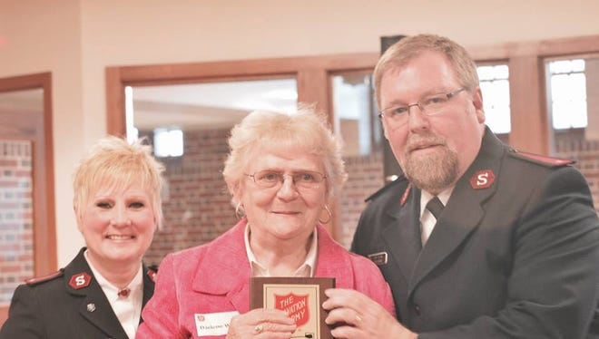 The Salvation Army held its annual volunteer dinner last month with a Lifetime Volunteer Award given to Darlene Wellner, center.