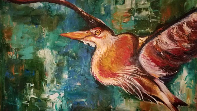 "The painting ""Heron"" by Gibbs High School art educator Jessica Bledsoe earned best in show in the Dogwood Arts' exhibit of works by teaching artists."