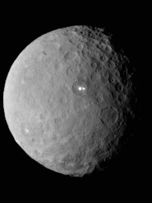 This Feb. 19, 2015 file image provided by NASA shows the dwarf planet Ceres, taken by the space agency's Dawn spacecraft from a distance of nearly 29,000 miles (46,000 kilometers). On Friday, March 6, 2015, NASAís Dawn spacecraft arrives at the mysterious dwarf planet located in the asteroid belt between Mars and Jupiter after a nearly eight-year journey. Dawn, which previously visited Vesta, also in the asteroid belt, has already beamed back images of Ceres as it closes in.