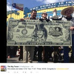 The Big Texan restaurant in Amarillo, Texas, tweeted a picture of Molly Schuyler on Sunday,