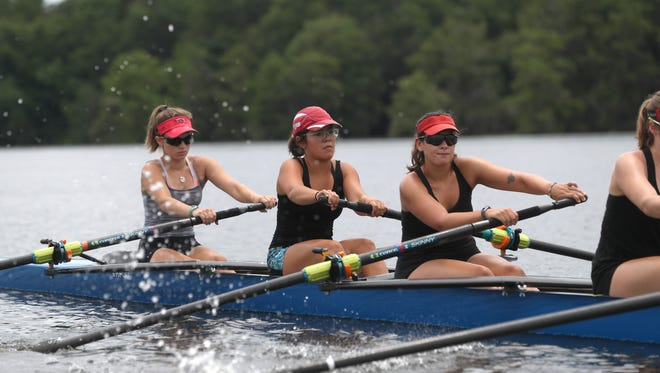 The Capital City Rowing team trains on Lake Talquin in 2018, in preparation for Nationals competition. The group is recruiting members now for the new season.