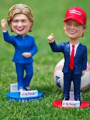 The Fort Myers Miracle will host a Bobblehead election Thursday between Donald Trump and Hillary Clinton at Hammond Stadium in south Fort Myers. 1,000 bobbleheads will be available; 500 for each candidate. The first candidate to run out of bobbleheads will be the winner. Gates open at 6 p.m and first pitch is at 7:05 p.m.