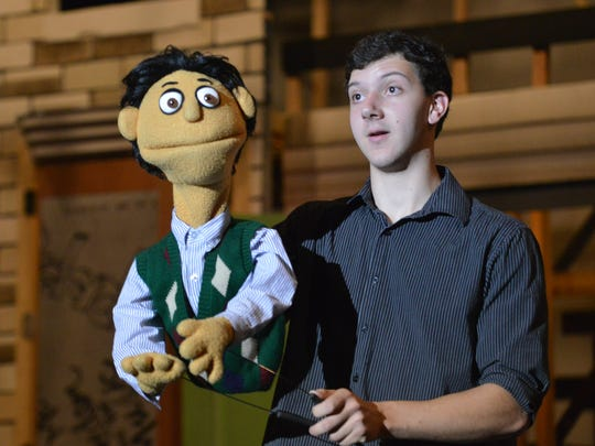 "Cast members (and puppets) of the hit play ""Avenue"