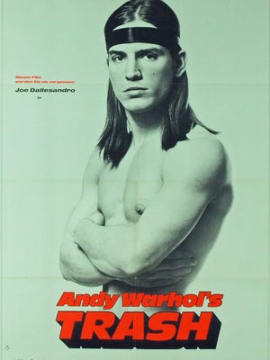 """Warhol marketed Joe Dallesandro as a sex symbol for all sexes, as seen in this poster for """"Trash."""""""