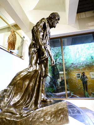 """""""Eustache de Saint-Pierre, Vétu"""" on exhibit at the Hallie Ford Museum of Art in Salem is a bronze, posthumously cast in 1985. Auguste Rodin conceived the work in 1887."""