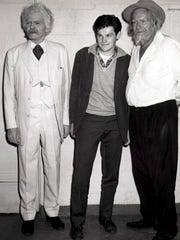 Hal Holbrook, left, as Mark Twain, Bill Carpenter, center, and Will Geer in this undated photo, possibly from 1962, when Carpenter directed the two men in a production in Stratford, Connecticut.