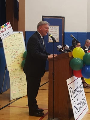 Senator Rich Funke announced that PCSD will offer full-day kindergarten in the 2018-19 school year.