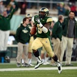 Colorado State's Kapri Bibbs, shown during an 85-yard TD run against Nevada on Nov. 9 in Fort Collins, Colo., rushed for a MW-best 1,741 yards last season. This year the Rams will rely on as many as five backs to take his place.