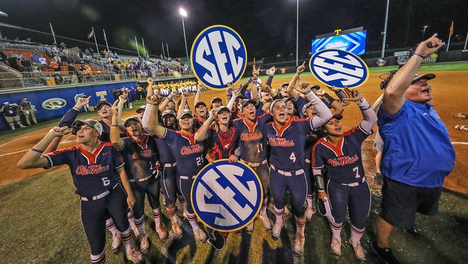 Ole Miss won its first-ever SEC softball title with a 5-1 victory over LSU on Saturday night.
