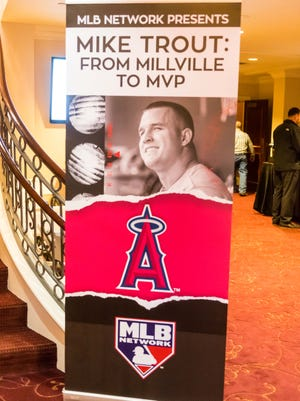 'Mike Trout: Millville to MVP' premiered at the Levoy Theatre in Millville on Thursday, April 6.