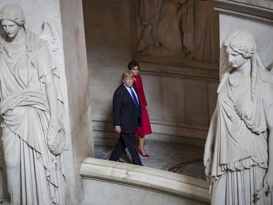 APTOPIX France Trump
