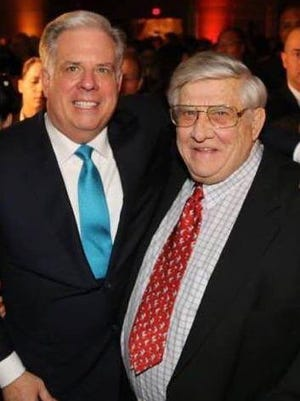 Gov. Larry Hogan with his father, Lawrence Hogan Sr. Hogan Sr., a former Maryland Congressman, died Thursday.
