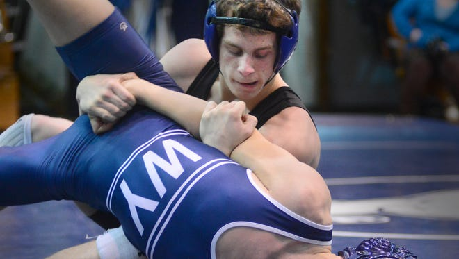 Kennard Dale's Andrew Barnett, top, will be one of two Rams competing in this weekend's state competition, along with 138-pound freshman, Nick Bradley.