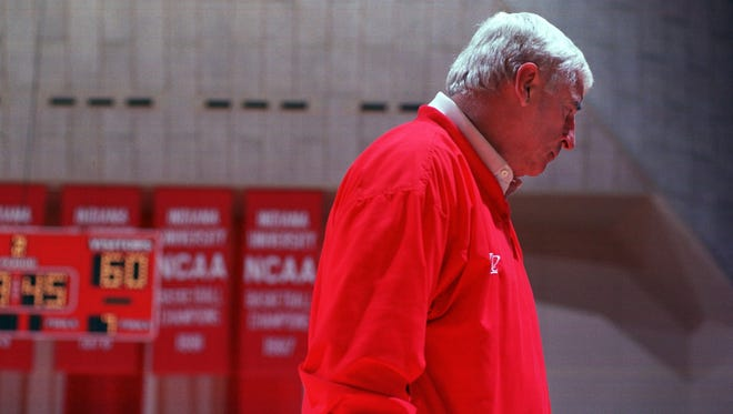 FILE – Team doctors who worked under Bob Knight released a letter disputing claims made by a former player in a recently released book.
