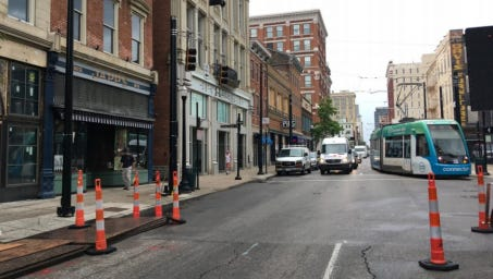 Main Street, eastbound 12th Street and Reading Road will be closed Monday through Friday.