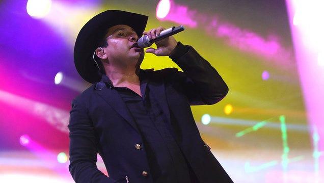 Julion Alvarez performs ontage during 'L Festival Feria Cultural Latinoamericana' at OC Fair and Event Center on Oct. 24, 2015 in Costa Mesa, Calif.