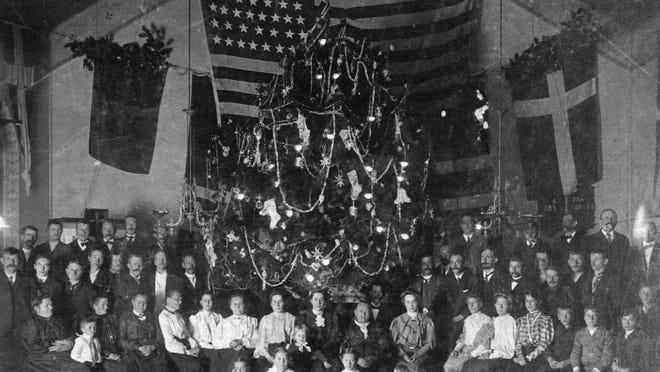 Christmas portrait taken at the Norwegian Seaman's Church of Pensacola in 1884.