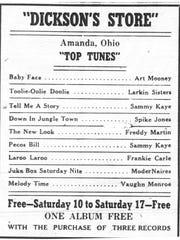 This ad ran in the April 8, 1948 Lancaster Eagle-Gazette.