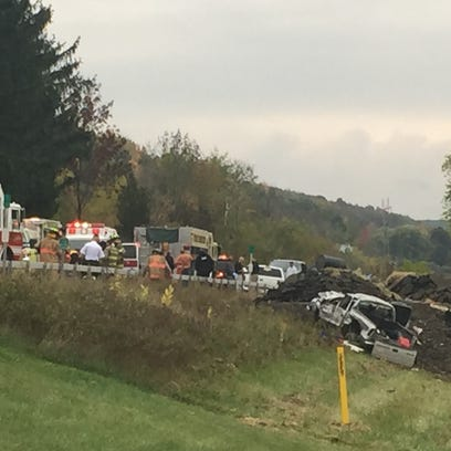 A serious accident on South Broadway in Wellsburg sent