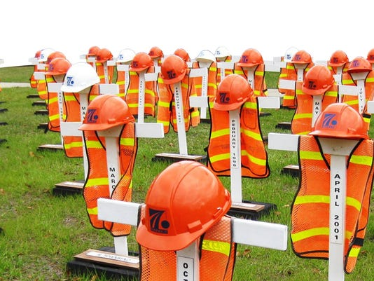 PennDOT memorial to employees killed by motorists in work zones