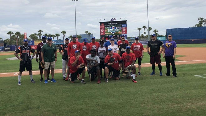 Education Foundation, St. Lucie's inaugural All-Star Softball Game at First Data Field pitted St. Lucie County firefighters in a four-inning game against educators from the St. Lucie County School District.